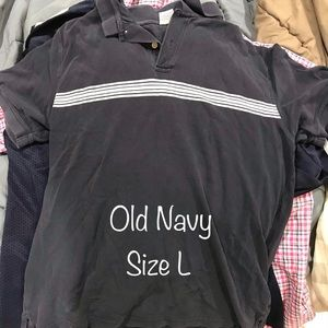 Old Navy - Black polo collared shirt